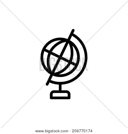 Globe icon flat icon. Single high quality outline symbol of info for web design or mobile app. Thin line signs of world for design logo, visit card, etc. Outline logo of earth