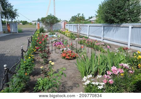 flower section in garden designing for cottage houses