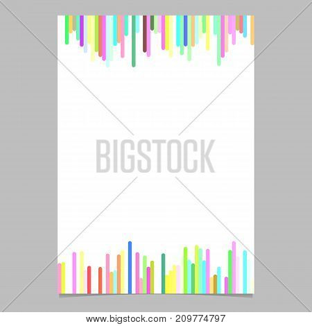Abstract multicolored brochure template from vertical rounded stripes