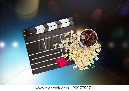 Set movie entertainment studio scene action board