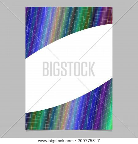 Geometrical colorful gradient grid brochure template design - vector flyer graphic illustration on white background