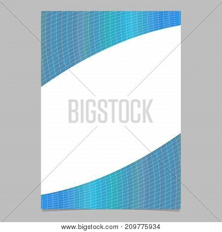 Abstract modern colorful gradient curved grid pattern page, brochure template - vector flyer background design