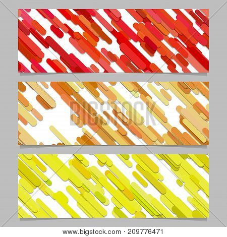 Seamless colorful random diagonal stripe pattern banner background design set