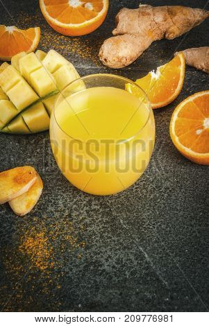 Mango, Orange, Turmeric And Ginger Smoothie