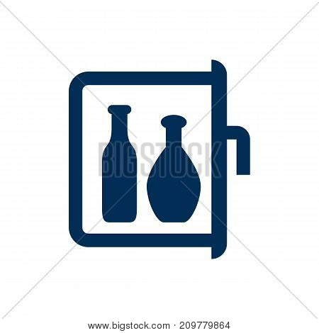 Vector Chiller Element In Trendy Style.  Isolated Minibar Icon Symbol On Clean Background.