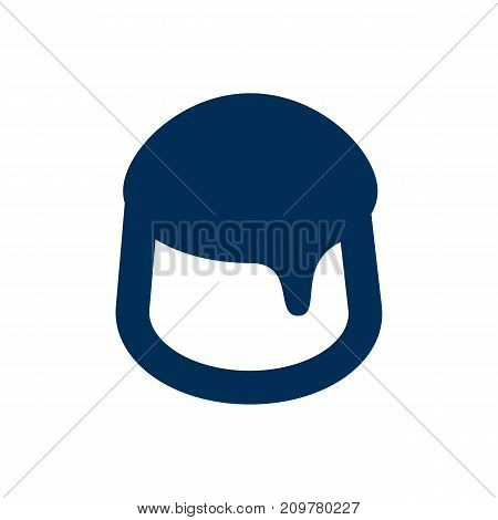 Vector Custard Element In Trendy Style.  Isolated Pudding Icon Symbol On Clean Background.