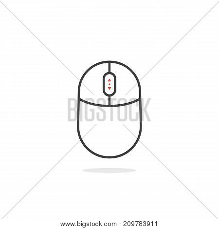 black thin line up and down scroll icon. concept of navigation on white background
