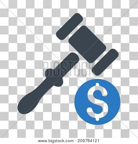 Auction icon. Vector illustration style is flat iconic bicolor symbol, smooth blue colors, transparent background. Designed for web and software interfaces.