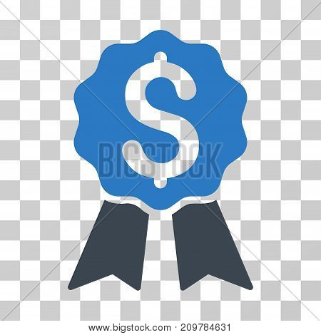 Banking Award icon. Vector illustration style is flat iconic bicolor symbol, smooth blue colors, transparent background. Designed for web and software interfaces.