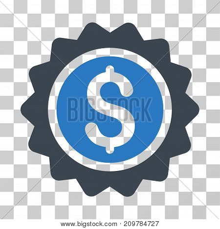Banking Stamp icon. Vector illustration style is flat iconic bicolor symbol, smooth blue colors, transparent background. Designed for web and software interfaces.