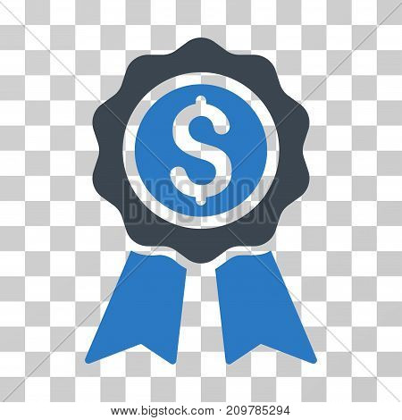 Business Award icon. Vector illustration style is flat iconic bicolor symbol, smooth blue colors, transparent background. Designed for web and software interfaces.