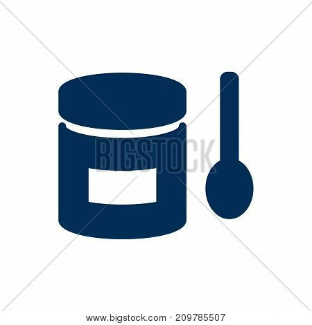 Isolated Powdered Milk Icon Symbol On Clean Background