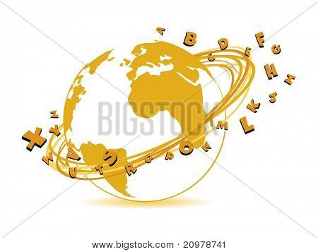 abstract global education background, vector illustration