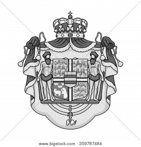Arms, single icon in monochrome style.Arms, vector symbol stock illustration .