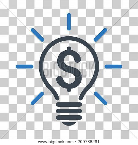 Electric Light Price icon. Vector illustration style is flat iconic bicolor symbol, smooth blue colors, transparent background. Designed for web and software interfaces.