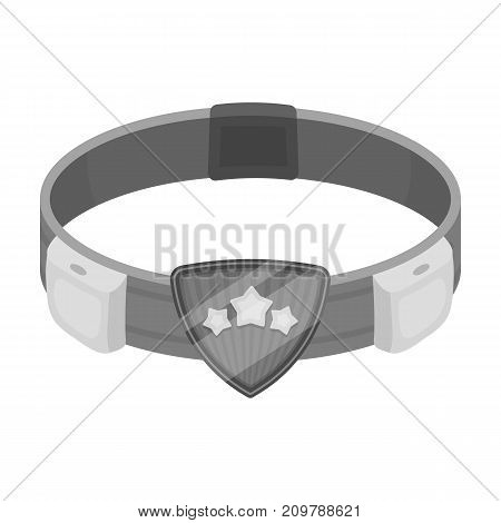 Belt, single icon in monochrome style.Belt, vector symbol stock illustration .