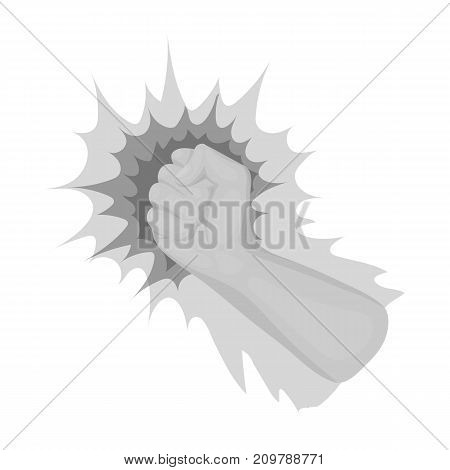 Hand, single icon in monochrome style.Hand, vector symbol stock illustration .