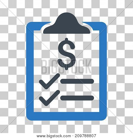 Invoice Pad icon. Vector illustration style is flat iconic bicolor symbol, smooth blue colors, transparent background. Designed for web and software interfaces.