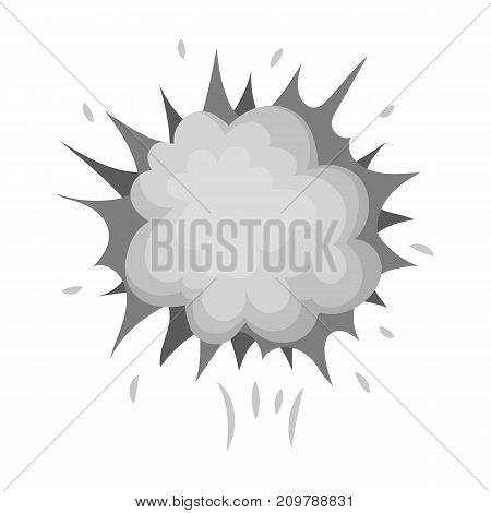Explosion, single icon in monochrome style.Explosion, vector symbol stock illustration .