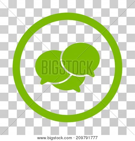 Webinar icon. Vector illustration style is flat iconic symbol, eco green color, transparent background. Designed for web and software interfaces.