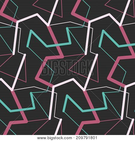 Vector pastel blue pink lines. Trendy fantasy freehand composition with geometric lines. Speed style natural painting. Pastel color modern grange shapes in vector art wallpaper print