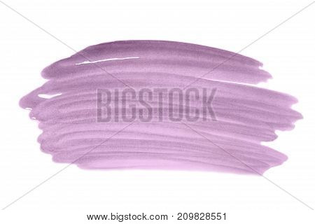Color Purple Splash Watercolor Hand Painted On White Background, Artistic Decoration Or Background .