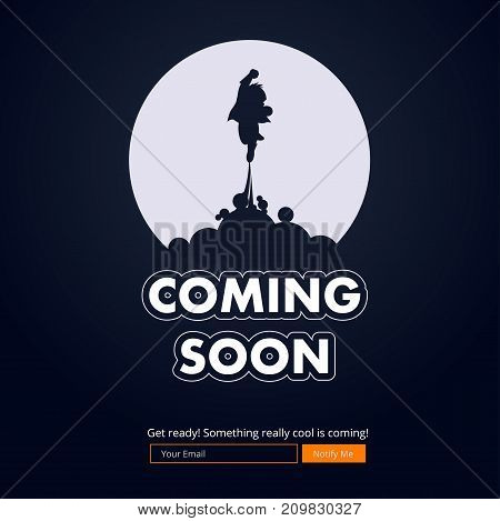Coming Soon Website Template. Coming Soon Landing Page Design. Coming soon page for a new website. We are Launching Soon - Illustration