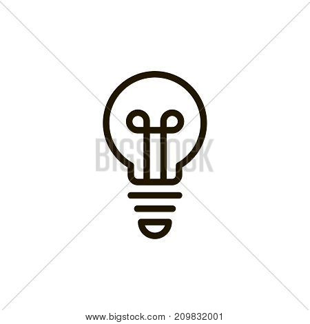 Bulb icon set. Collection of high quality outline idea pictograms in modern flat style. Black information symbol for web design and mobile app on white background. Light line logo.