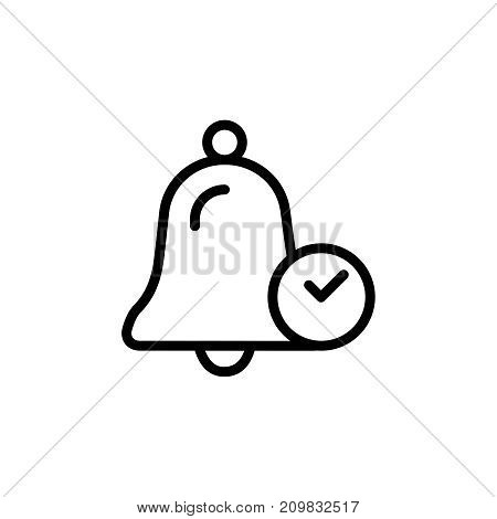 Bell icon set. Collection of high quality outline technology pictograms in modern flat style. Black information symbol for web design and mobile app on white background. Alert line logo.