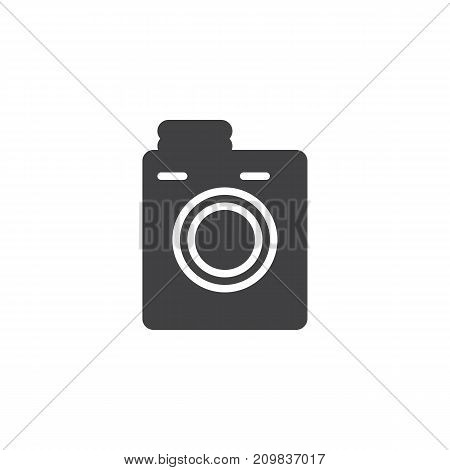 Laundry machine icon vector, filled flat sign, solid pictogram isolated on white. Symbol, logo illustration.