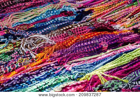 Bright Multicolored string in long diagonal rows