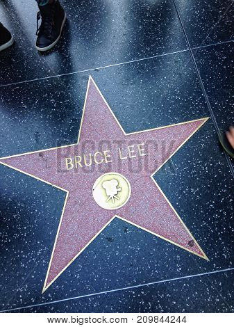 Bruce Lee Hollywood Walk Of Fame Star.