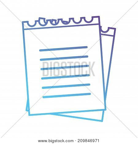 line notebook papers object icon vector illustration