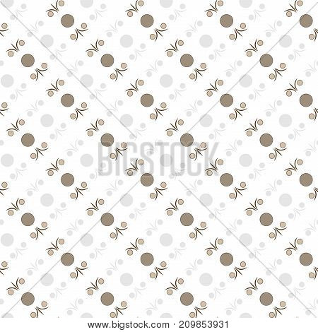 Abstract of circle seamless pattern. Fashion graphic design. Modern stylish texture. Monochrome template for prints textiles wrapping wallpaper card banner business. Vector illustration