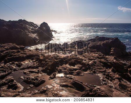 Rocky Coast Of Tenerife At Puerto De Santiago, Tenerife