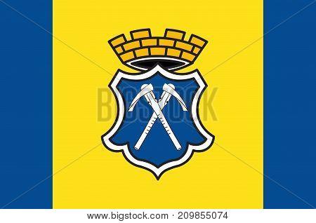 Flag of Bad Homburg vor der Hoehe is the district town of the Hochtaunuskreis Hesse Germany. Vector illustration