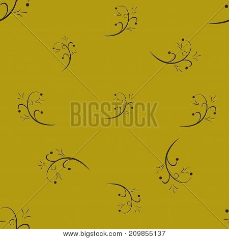 Twig abstract seamless pattern. Fashion graphic background design. Modern stylish abstract texture. Colorful template for prints textiles wrapping wallpaper. Design element. Vector illustration