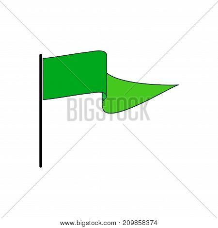Flag green sign. Fashion graphic background design. Modern stylish abstract texture. Monochrome template for prints textiles wrapping wallpaper banner. Design flat element. Vector illustration
