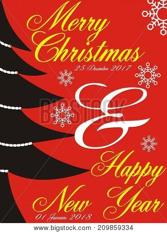 marry christmas and happy new year two thousand eighteen
