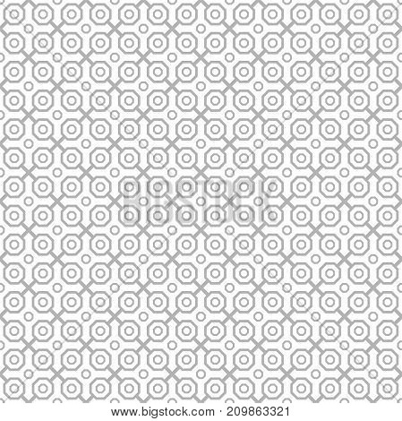 Geometric light silver abstract octagonal background. Geometric abstract ornament. Seamless modern pattern
