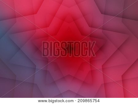 Abstract colored background with a star shape