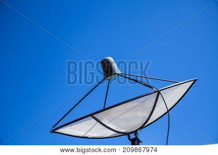 Satellite dish sky communication technology and network