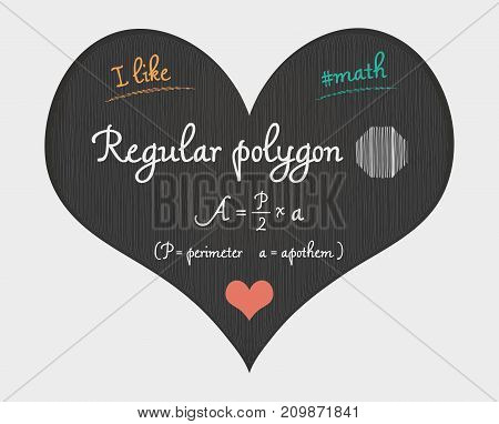 Regular Polygon Area Calculation - I Like Math Illustration