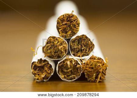 cigarette on wooden texture composition photography concept