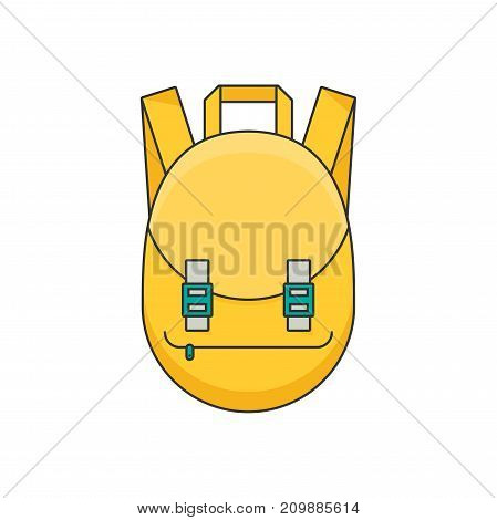 Schoolbag flat illustration. Bag for school isolated on white background