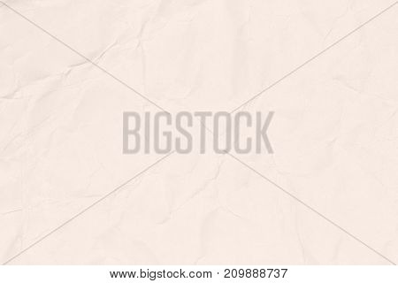 Crumpled light brown paper texture or paper background for business education and communication concept design.