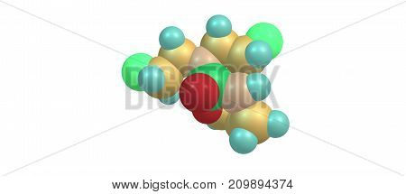 Cyclophosphamide or cytophosphane is a medication used as chemotherapy and to suppress the immune system. 3d illustration