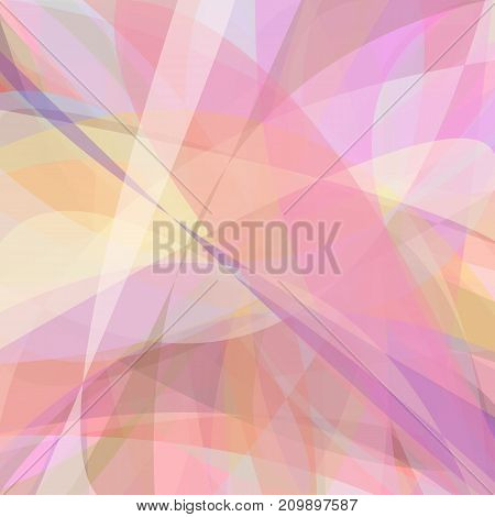 Pink abstract background from dynamic curves - vector design