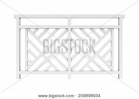 Design white metal railing render 3d model 3d model