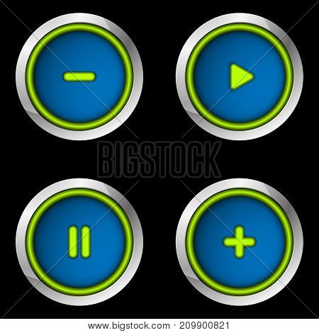 Set of buttons for game, website or app. Vector illustration EPS10